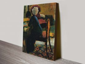 Buy Elisabeth at the Desk Classic Canvas Art