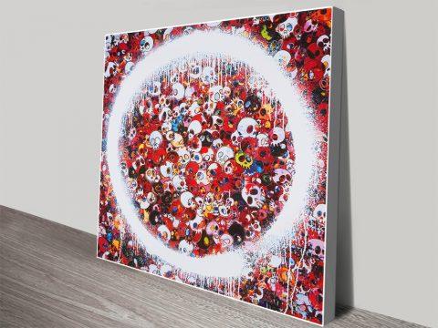 Buy Memento Mori Red Murakami Canvas Art