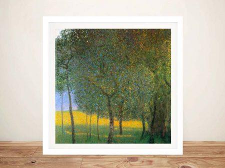 Buy a Canvas Print of Klimt's Fruit Trees