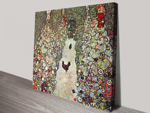 Buy Garden Path with Chickens Klimt Artwork