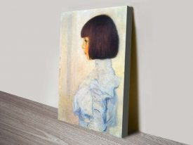 Buy a Canvas Portrait Print of Helene Klimt