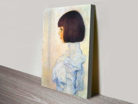 Buy a Canvas Portrait Print of Helene Klimt