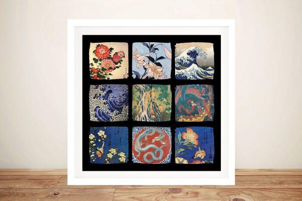 Buy a Hokusai Japanese Art Framed Collage