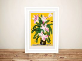 Buy a Framed David Hockney Lilies Print
