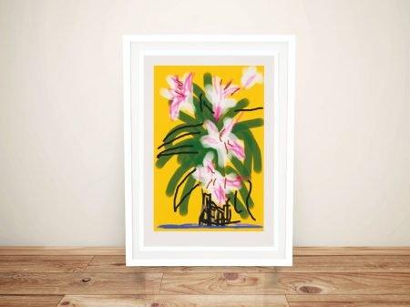 Buy a Framed David Hockney Lilies Print