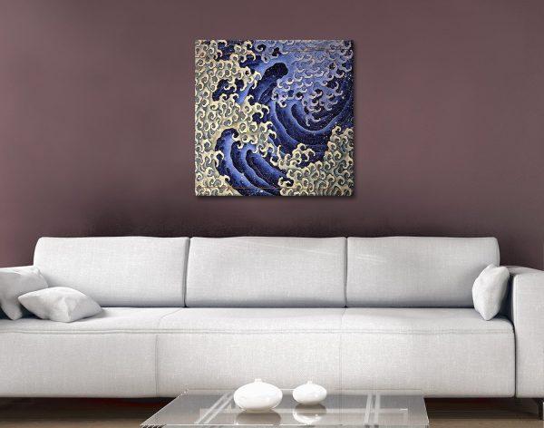 Masculine Waves Hokusai Art Print