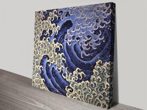 Masculine wave canvas print
