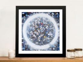 Buy Memento Mori Red on Blue Framed Art