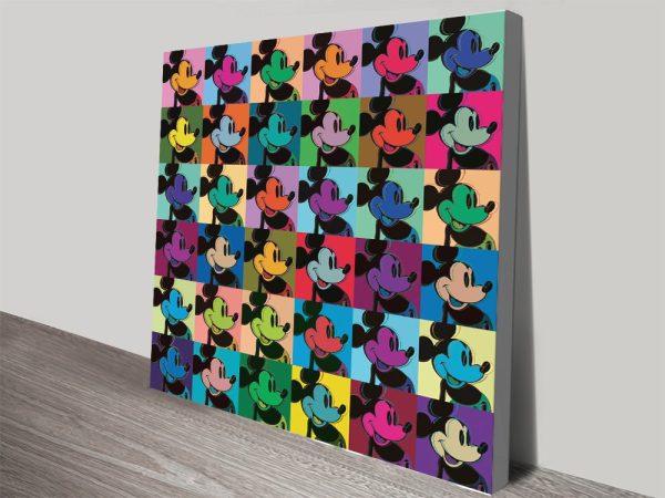 Buy a Multi Mickey Warhol Pop Art Print