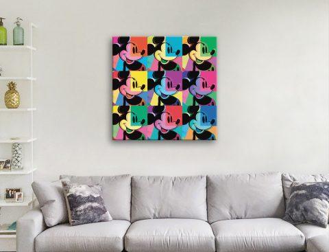 Buy Multi Mickey Mouse Panel Canvas Pop Art