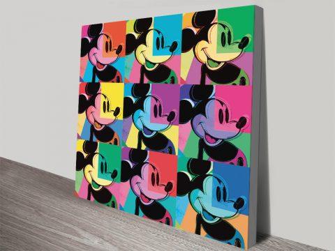 9-Panel Mickey Mouse Warhol Print