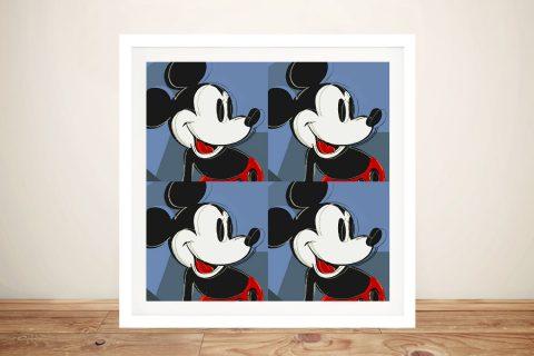 Retro Mickey Mouse Pop Art Print