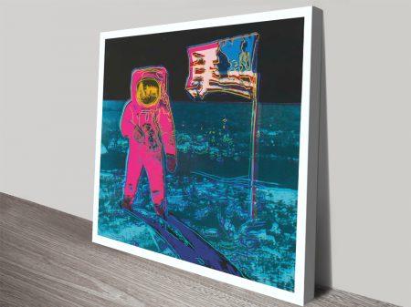 Buy Moonwalk 2 Framed Warhol Canvas Art