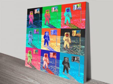 Buy 9 Panel Warhol Moonwalk Wall Art