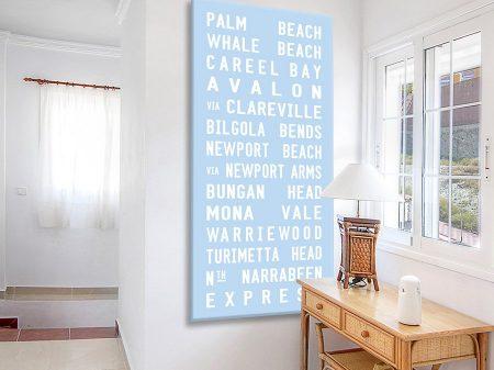 Blue Palm Beach Sydney Tram Scroll