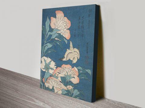 Buy Peonies & Canary Classic Japanese Art AU