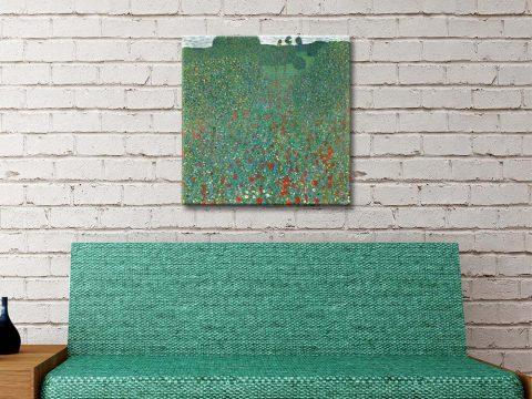 Buy a Klimt Poppy Field Print Great Gifts AU