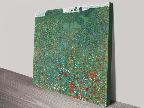 Buy a Framed Print of Poppy Field by Klimt