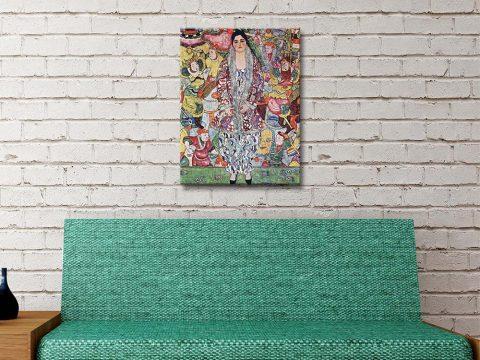 Buy Ready to Hang Klimt Portrait Wall Art AU