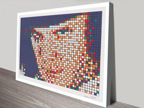 Buy Invader Pixelated Wall Art Cheap Online