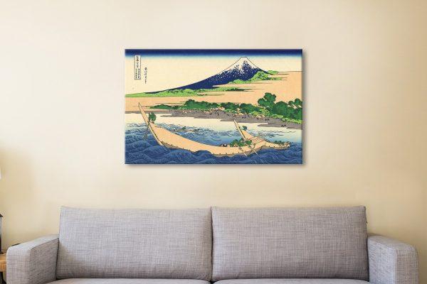 Hokusai Shore of Tago Bay Wall Art Cheap AU