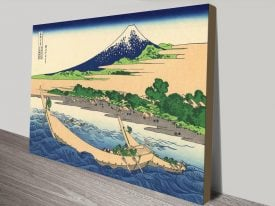 Buy Shore of Tago Bay Hokusai Print on Canvas