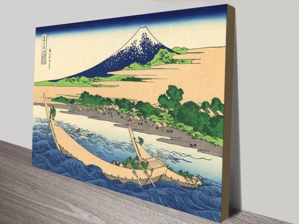 Buy Shore of Tago Bay Hokusai Print on Canvas