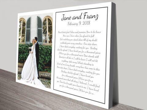 Buy Custom Photo Canvas Wedding Art Online