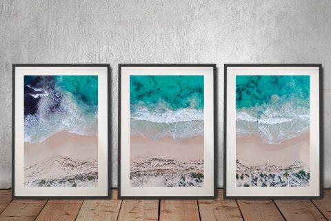 Sovereign Waves 3 Piece Framed Art