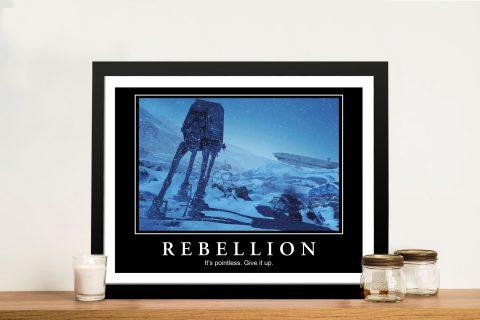 Buy Star Wars Rebellion Funny Framed Art