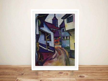 Buy Street with a Church Framed Wall Art