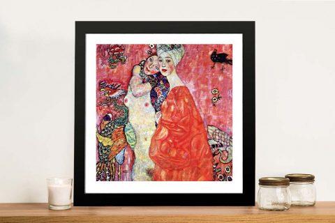 Buy The Girlfriends Art on Canvas by Klimt