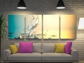 Buy a 4-Piece Water Butterfly Canvas Set