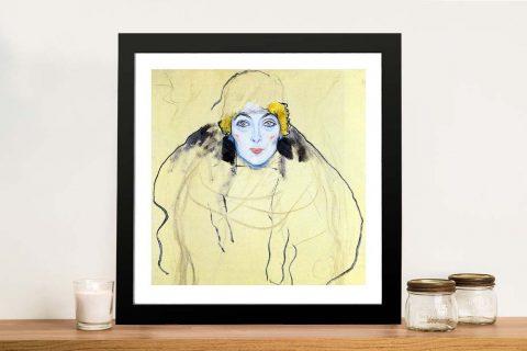 Buy Woman's Head Framed Klimt Wall Art
