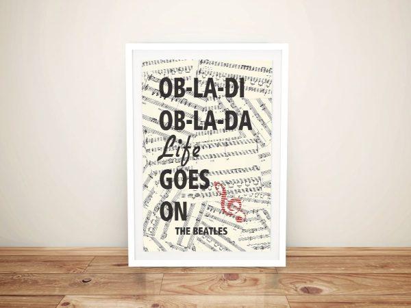 Buy a Framed Beatles Poster Print Online