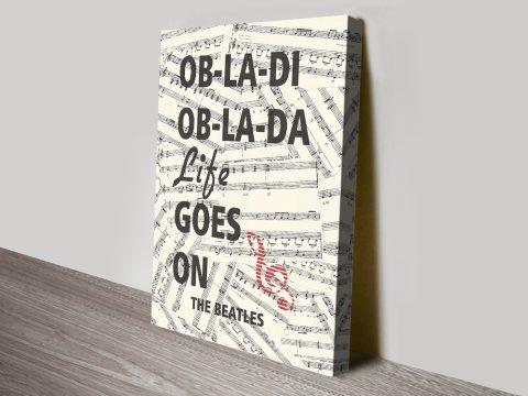 Buy a Beatles Ob-La-Di Framed Poster Print