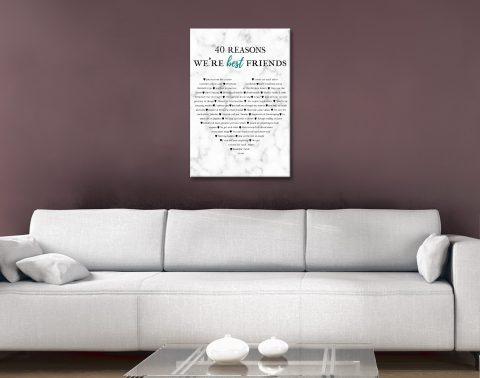 Gift Idea for Friends Custom Word Art