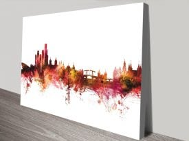 Buy Michael Tompsett Amsterdam Skyline Art