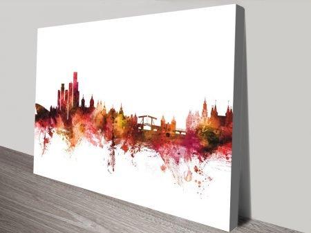 Buy Michael Tompsett Amsterdam Skyline Art