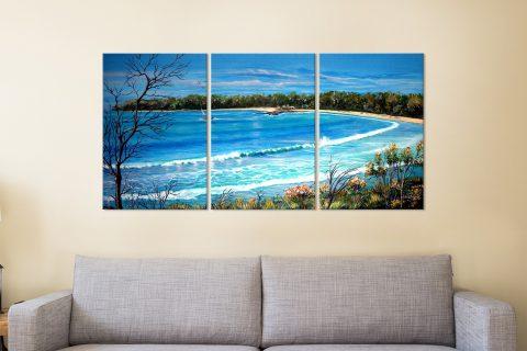 Beach-View-3-Panel-Linda-Callaghan-Artwork
