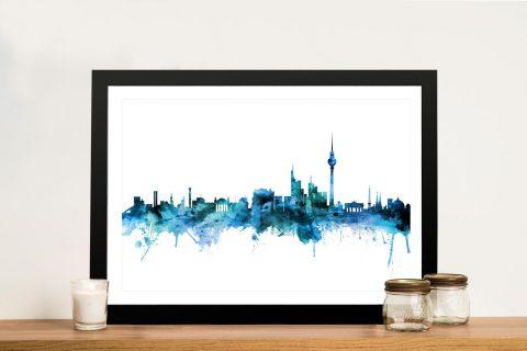 Buy Ready to Hang Berlin Skyline Prints on Canvas