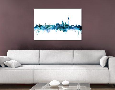 Buy Watercolour Skyline Prints Unique Gifts AU