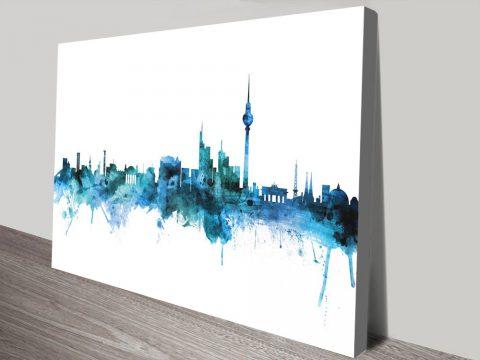 Buy Berlin Watercolour Skyline Wall Art