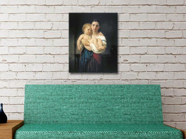 Buy Ready to Hang Elder Sister Portrait Art