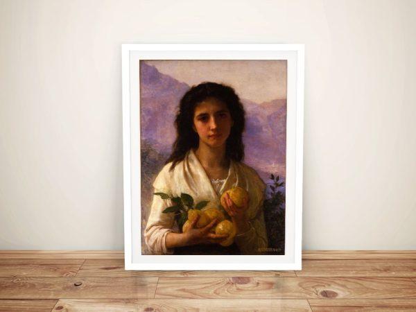 Buy a Canvas Print of Girl Holding Lemons