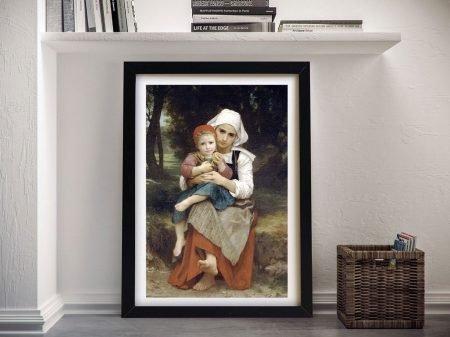 Breton Brother & Sister Framed Canvas Print