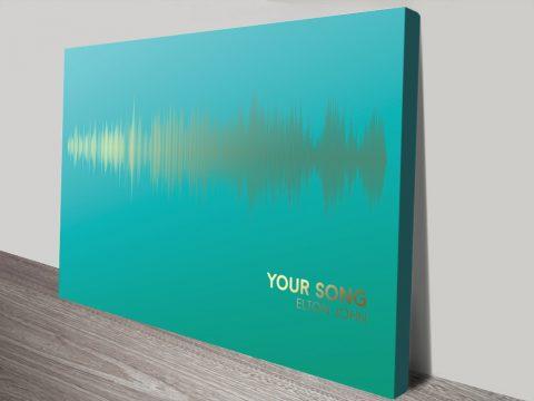 Elton John Your Song Soundwave Canvas Print