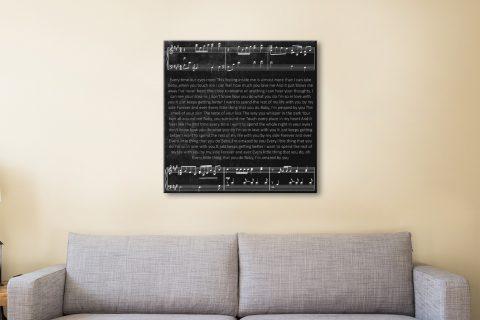 Custom Song Lyrics Canvas Artwork