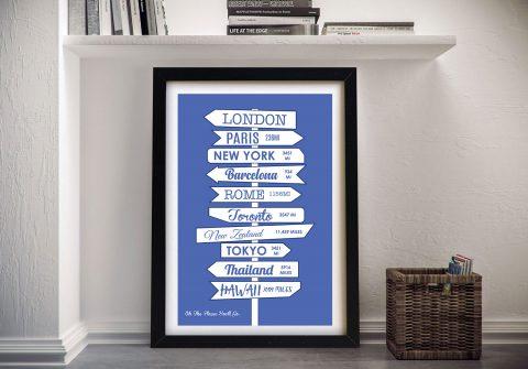 Personalised Signpost Word Art