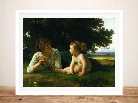 Buy a Framed Bouguereau Print of Temptation